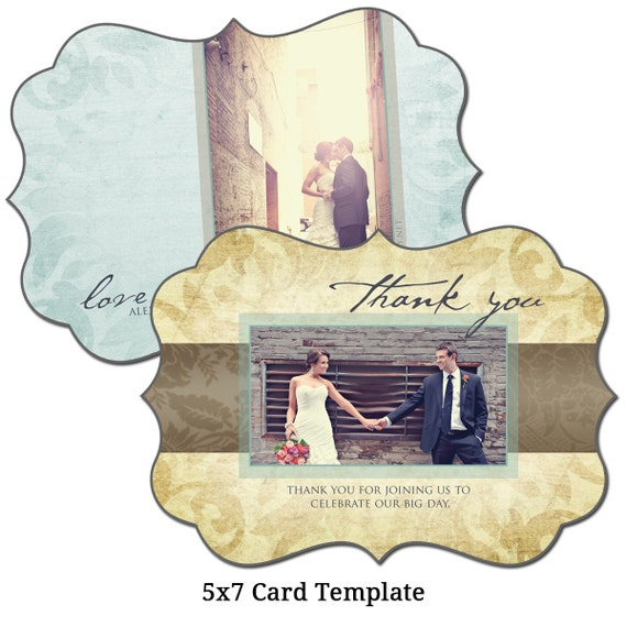 5x7 postcard mailing template - 5x7 thank you card template thankful digital file