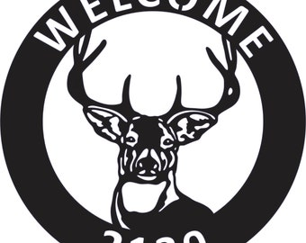 "Custom Personalized Deer Sign 18"""