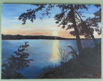 Sunset on Chemo Pond,Maine