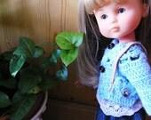 """Patron de crochet """" Marguerites Chéries""""  PDF pour des vêtements pour poupées de 32-35 cm comme les Chéries"""