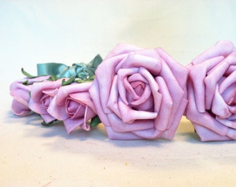 SALE 20% OFF Rose Flower Crown with Bow