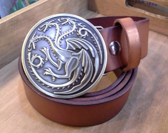 Fire and Blood Game of Thrones Belt Buckle