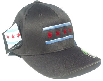 Grey Chicago Flag Hat