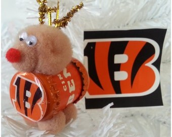 "NFL Xmas ""Reinbeer"" Ornament - Cincinnati Bengals"