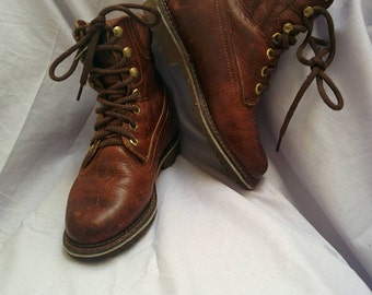 Vintage Fall/Winter Brown Boots US6