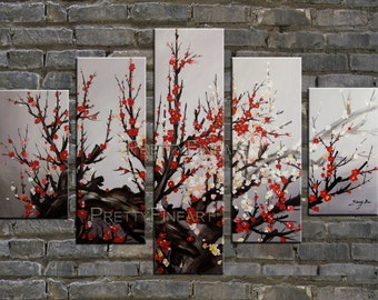 oil painting,blossom painting,modern canvs painting for home decor,framed,ready to hang,huge 150x90cm-NE25