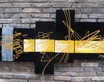 abstract painting,modern canvas painting for home decor,framed,ready to hang,huge 150x80cm-NE017