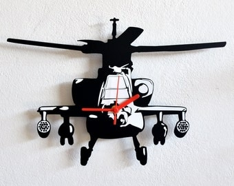 Apache Helicopter - Wall Clock