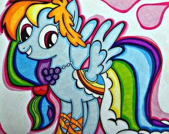 Rainbow Dash. MlP: FIM. My little pony drawing. MLP illustration. MLP art. Pony drawing. Rainbow Dash illustration. Rainbow Dash drawing.