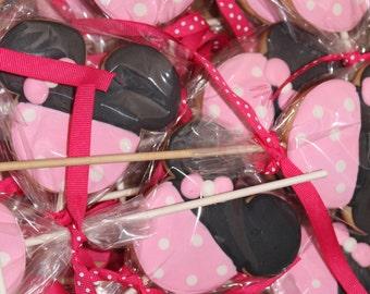 mini mouse lollipop cookies