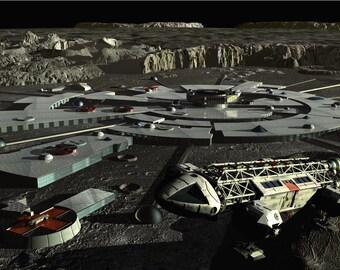 Space1999 Digital Art  Glossy Print  'Moonbase Alpha'