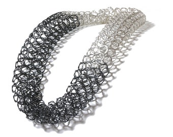 Statement chainmaille necklace, statement chain mail necklace, chain tube necklace,