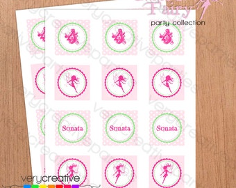 Garden Fairy Party Circles - Fairy Party Cupcake Toppers - Fairy Birthday Party Decorations - Fairy Printables