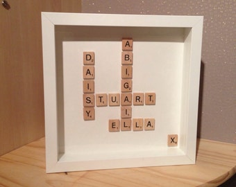 Personalized Scrabble Frame
