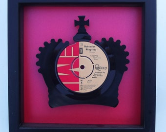 Queen Bohemian Rhapsody Crown Vinyl Record Art