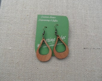 Laser Cut Wood Earring