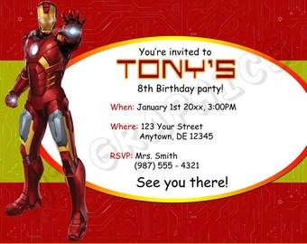 Iron Man Birthday Invitation - Printable
