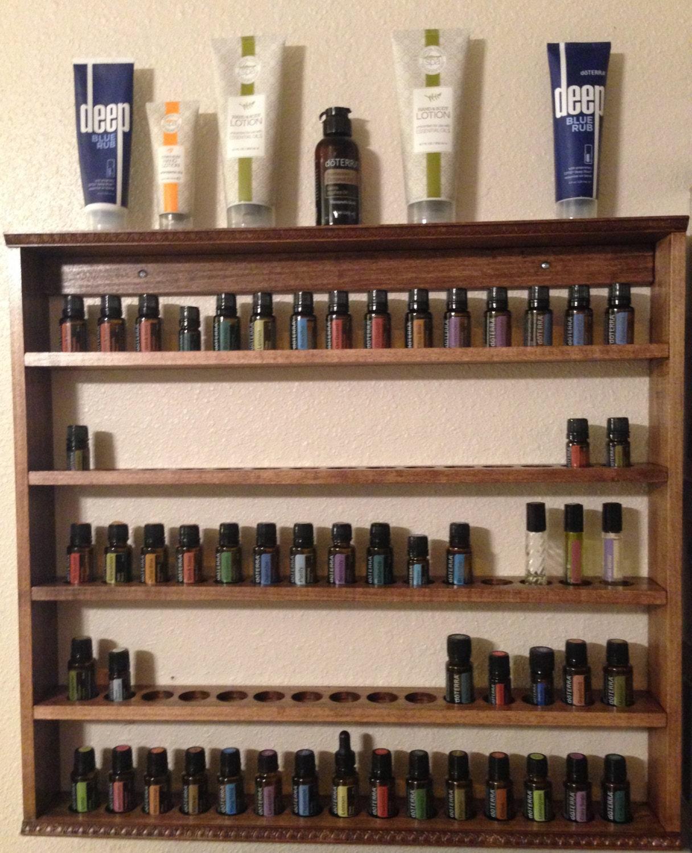 Handmade Wood Essential Oil Display Shelf By Displayyourshelf