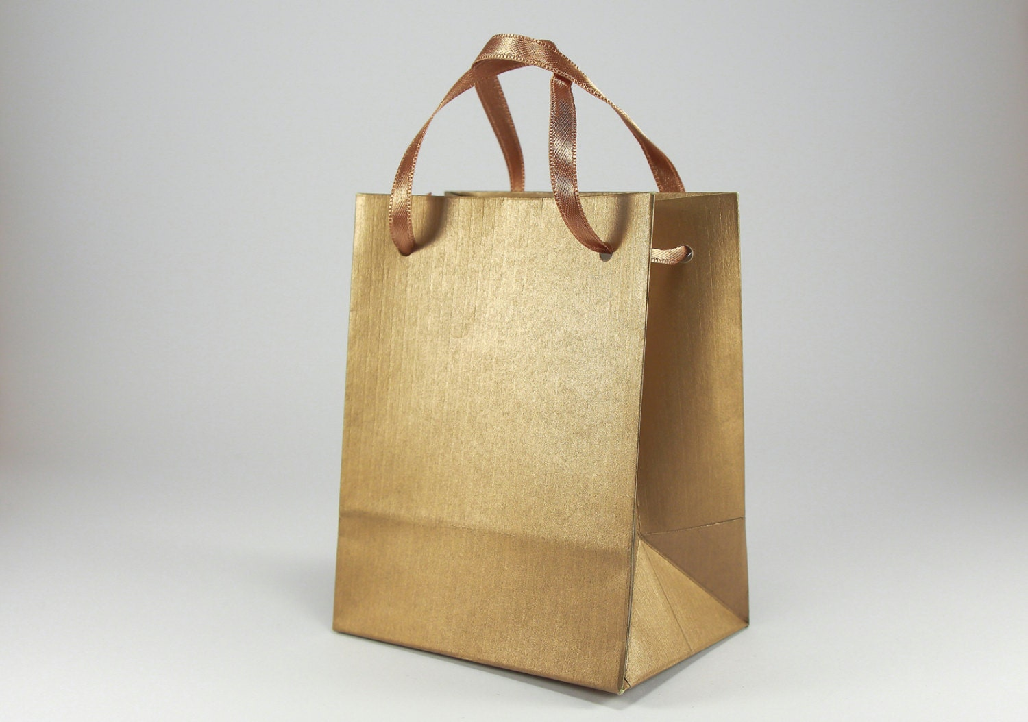 Gold Wedding Gift Bags : 50 Extra Small Gift Bags Antique Gold Paper Bags with Satin