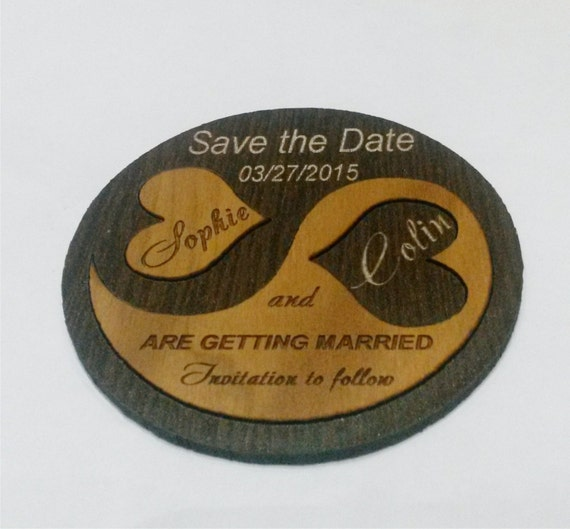 ... Save the Date, Engaved Save the Date Magnets,Wooden save the date
