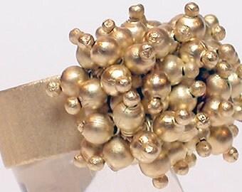 "Brazil Ring ""Brass Balls"" Brass Fanciful"