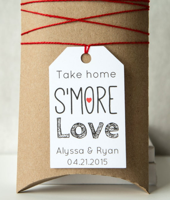 Wedding Take Home Gifts: Take Home S'more Love Wedding Favor Tags, Smores Favors
