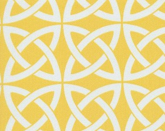 Linked In Yellow Indoor Outdoor contemporary Fabric