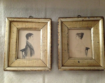 Pair Mid 19th Century Watercolors REDUCED