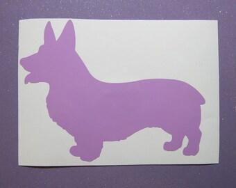Corgi dog vinyl sticker decal- sticker for car- corgi laptop decal