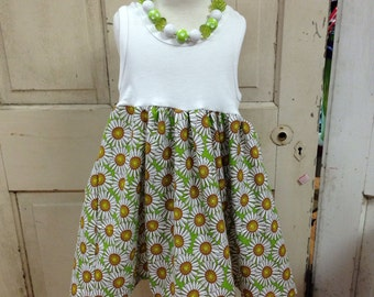Custom Daisy Tank Dress: size 3T