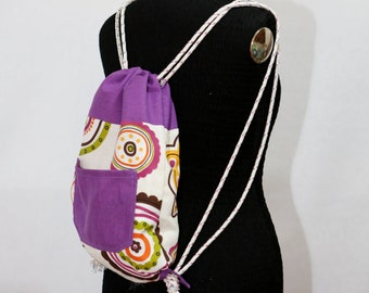 Flowers little Backpack, violet band