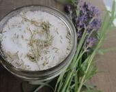 8oz Lavender rosemary bath salt, salt scrub, bath soak, salt soak, soaking salt, gifts for her, Valentines day gifts, bath and beauty