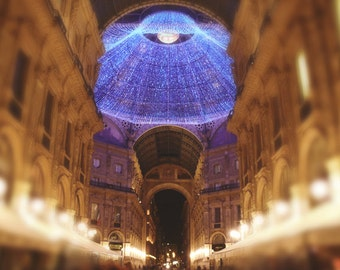 Travel Photography - Dreamy Milan Galleria Photo 2, 24x36 20x30 16x20 8x10 5x7 fine art wall decor, wall art