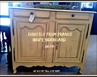 SOLD ANTIQUE-FURNITURE- 1850's French Sideboard