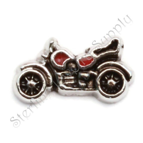 motorcycle charm for floating lockets wholesale memory locket