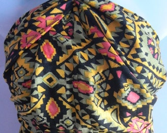 ON SALE:Rajasthani Infinity Scarf,Shade Scarf,colorful Scarf,Yellow Black Pink Printed Scarf,Printed scarf,Indian neck wrap,Wholesale scarf