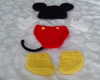 Halloween Mickey Mouse baby outfit.