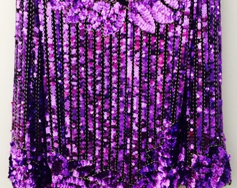 Flagg Petites Couture Collection Sequined Purple Top