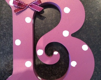 Wooden painted letter B
