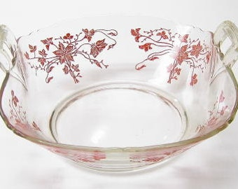 Serving Bowl by Imperial Poinsettia Pattern Circa 1930's