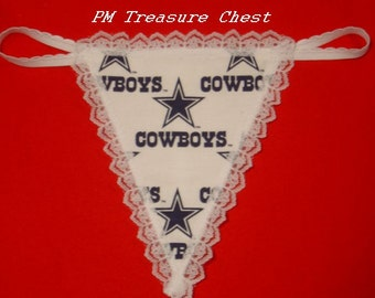 Womens DALLAS COWBOYS G-String Thong Female Nfl Lingerie Football Underwear