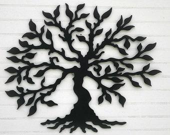 Enchanted Tree  Wood Silhouette