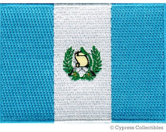 GUATEMALA FLAG PATCH iron-on embroidered applique Top Quality