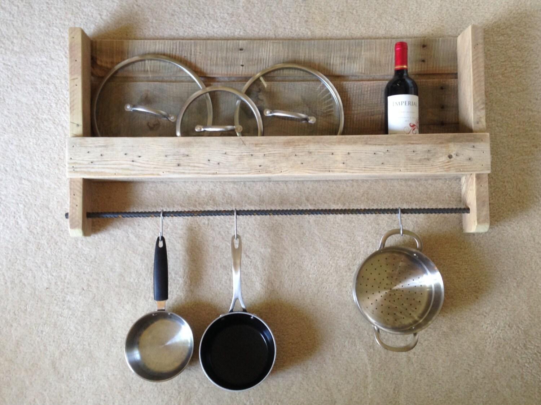 rustic hanging pot rack. Black Bedroom Furniture Sets. Home Design Ideas