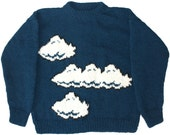 Wool Mario Bros. Sweater: SMALL Clouds Nintendo Brothers Super NES Cosby Bad Video Game Retro Vintage