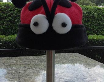 Fleece Lady Bug Hat