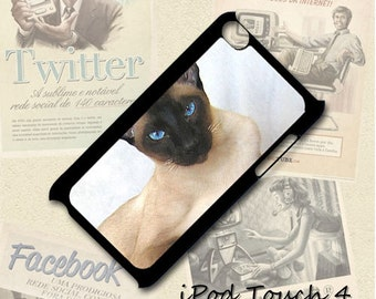 Siamese Cat cell phone Case / Cover for iPhone 4, 5, Samsung S3, HTC One X, Blackberry 9900, iPod touch 4 / 053