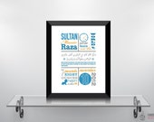 Personalize It's a BOY Birth Announcement | Islamic Decor and Art Prints | Modern Islamic Wall Art & Digital Paintings