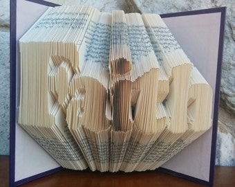 Faith - Folded Book Art - Fully Customizable, religious, hope, charity