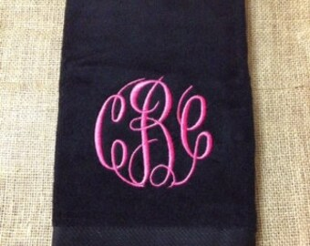 Monogrammed Golf Towel, Personalized Golf Accessories, Bridal Party Gifts, Graduation Gifts, Bachelor Weekend Favors, Golf Trip Favors